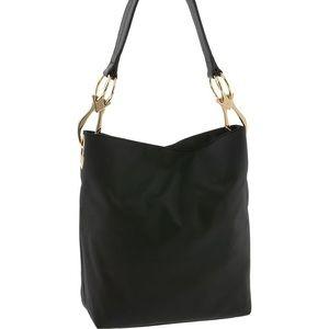 JPK Paris 75 Black Nylon Bucket Bag Tote